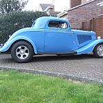 Blue 34 Ford Coupe by Back Yard Blues