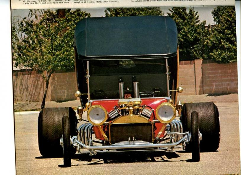 Pics from American hot rod & drag mags 1970
