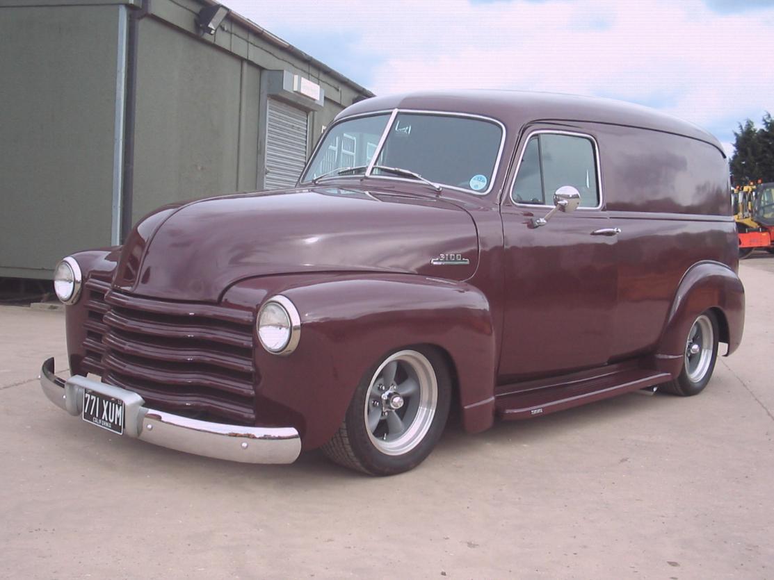 1953 Chevy 3100 Panel Van Sold