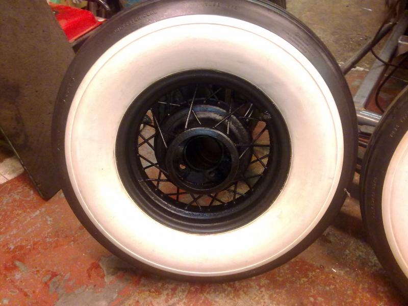 Pair Of 16 Quot 1935 Ford Wire Wheels With 7 50x16 Whitewalls 163 400