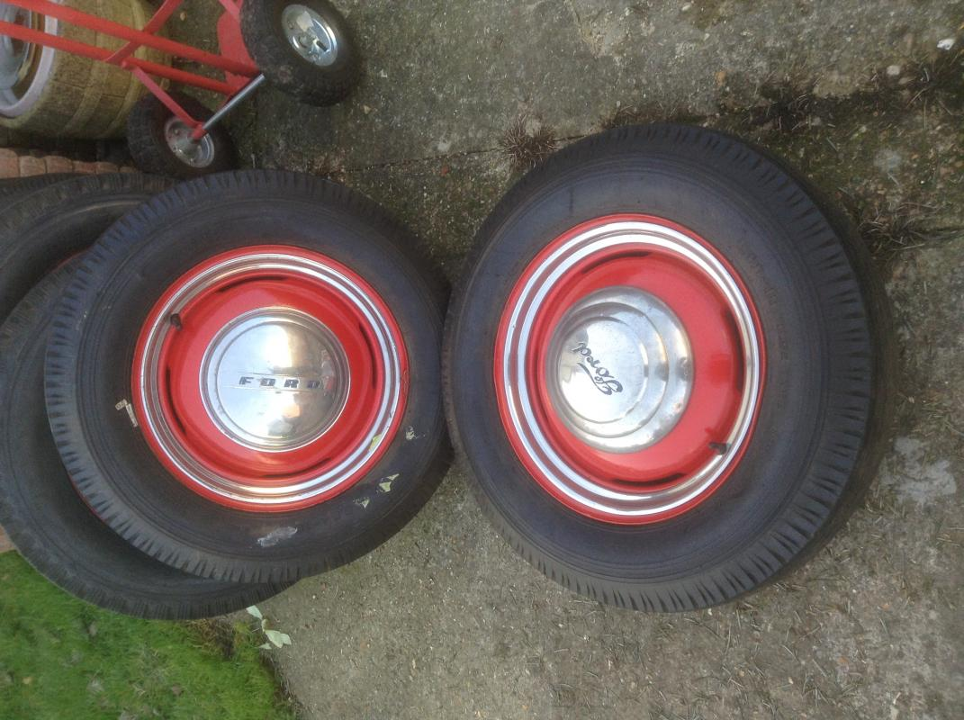 1940 Ford Rims And Excellet Tyres For Sale