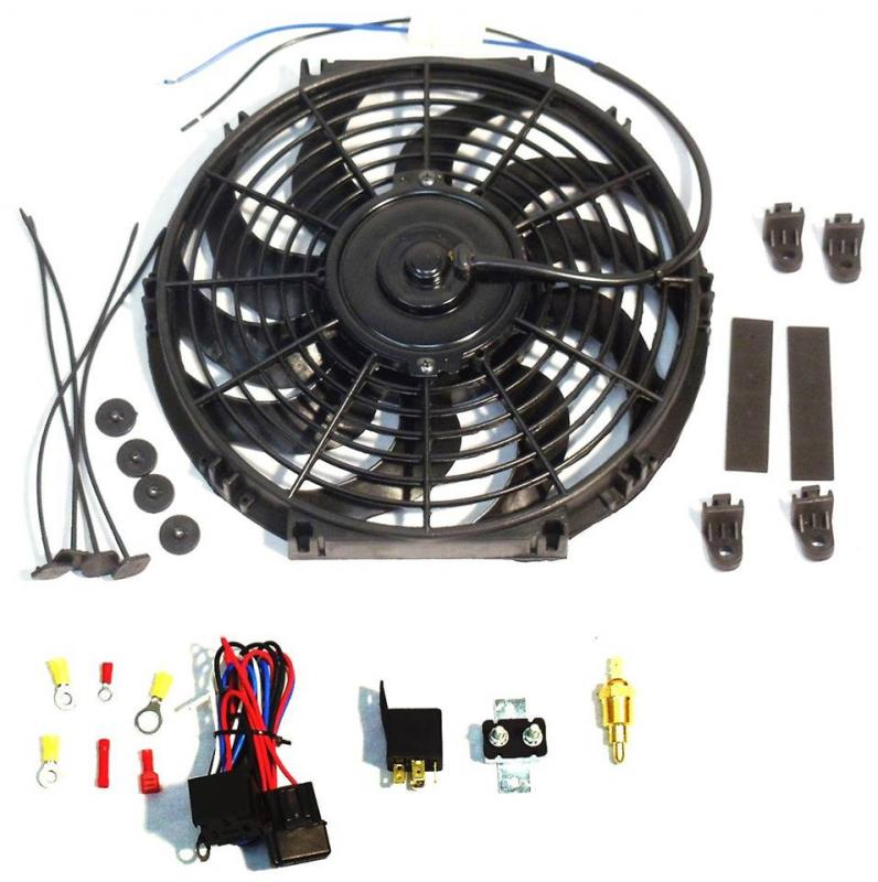 T16 U0026quot  Electric Curved  U0026quot S U0026quot  Blade Reversible Cooling Fan 12v